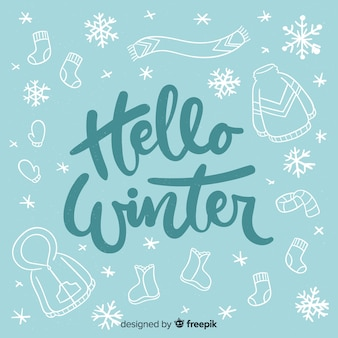 Hallo winter belettering