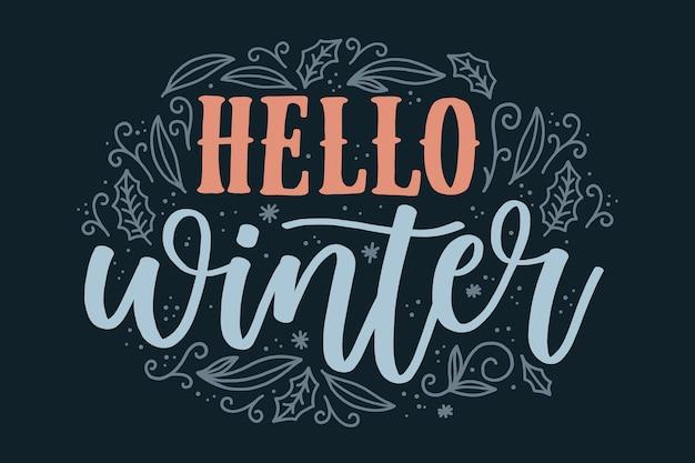 Hallo winter belettering