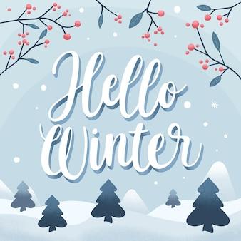 Hallo winter - belettering