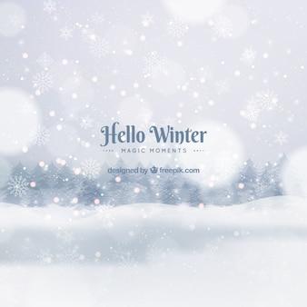 Hallo winter, magische momenten