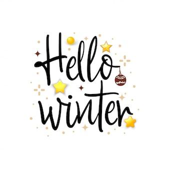 Hallo winter. vakantie banner