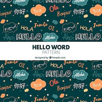 Hallo woordenpatroon in verschillende talen