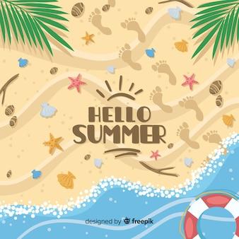 Hallo zomer achtergrond
