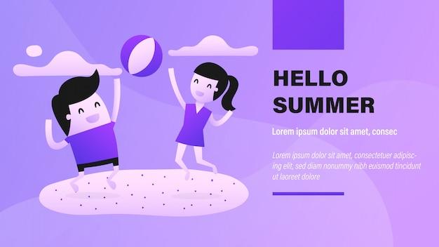 Hallo zomer banner