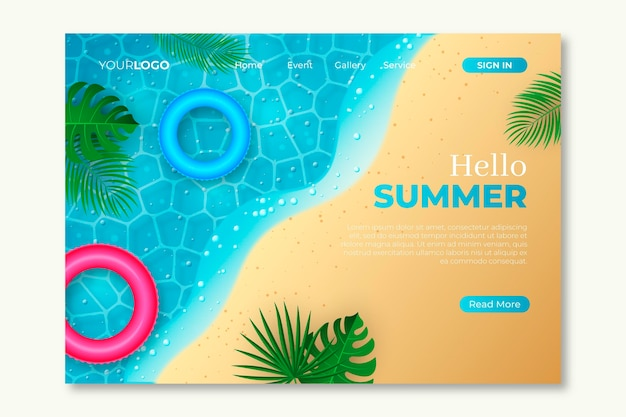 Hallo zomer bestemmingspagina thema
