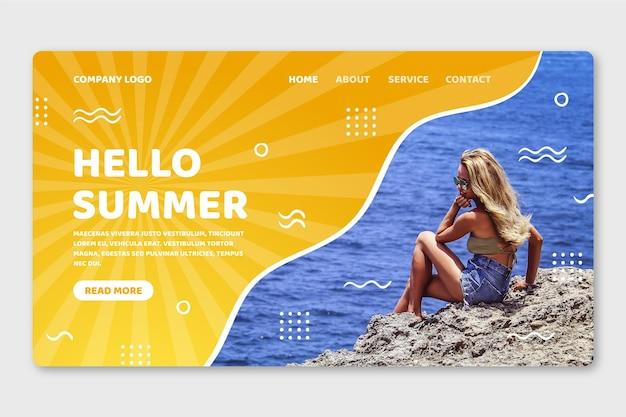 Hallo zomer bestemmingspagina