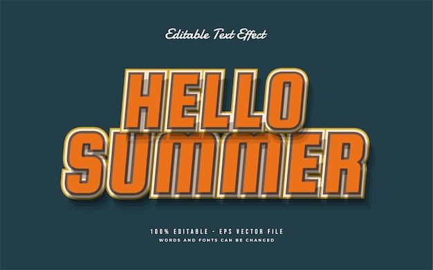 Hallo zomer bewerkbaar tekststijleffect