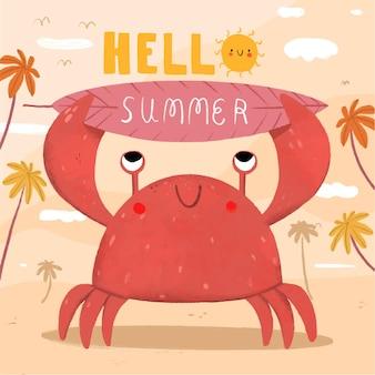 Hallo zomer concept