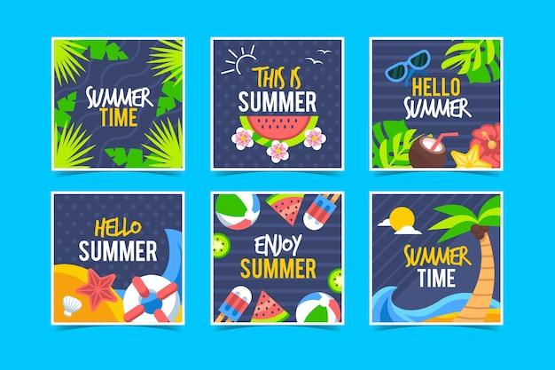 Hallo zomer instagram-berichten