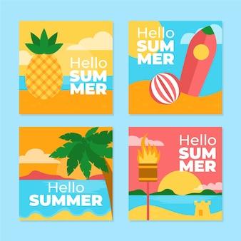 Hallo zomer instagram posts collectie