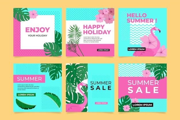 Hallo zomer instagram postverzameling