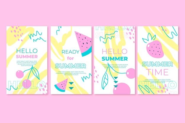 Hallo zomer instagram-verhaalpakket