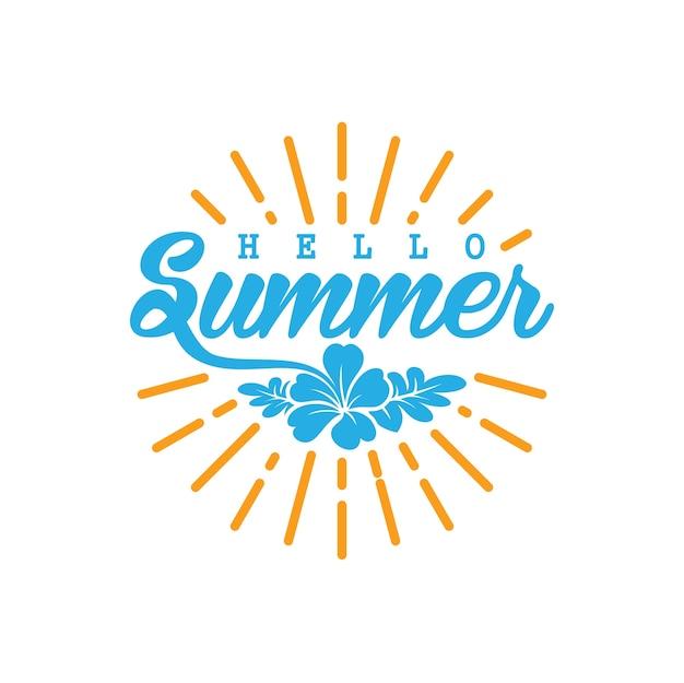 Hallo zomer logo concept