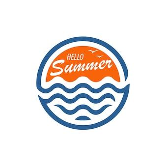 Hallo zomer logo ontwerp inspiratie