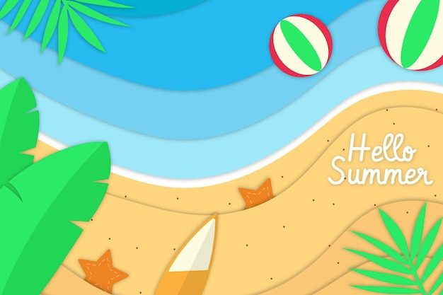 Hallo zomer met papercut-stijl