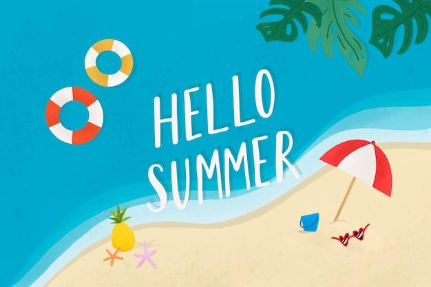 Hallo zomer op het strand
