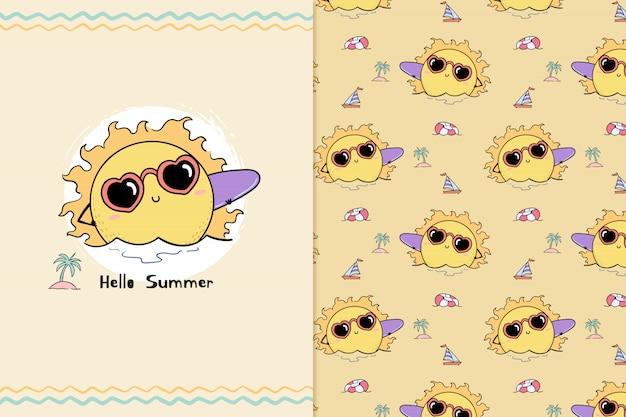 Hallo zomer patroon