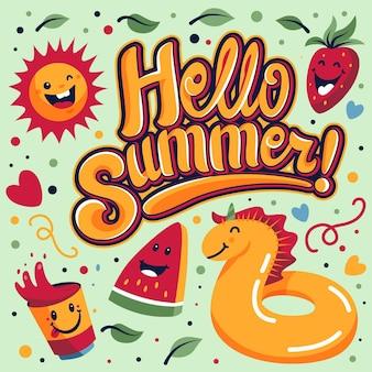 Hallo zomer thema