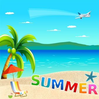 Hallo zomer vakantie concept.