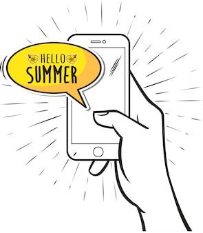 Hallo zomer vectorillustratie
