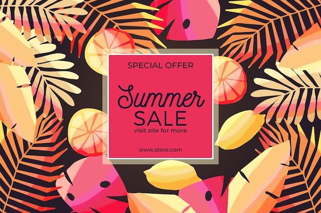 Hallo zomer verkoop in aquarel stijl