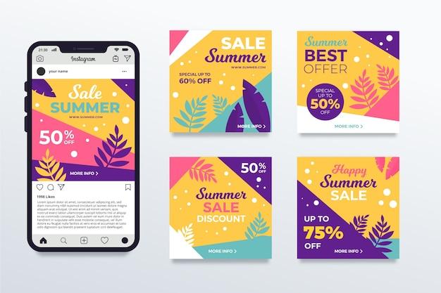 Hallo zomer verkoop instagram berichten