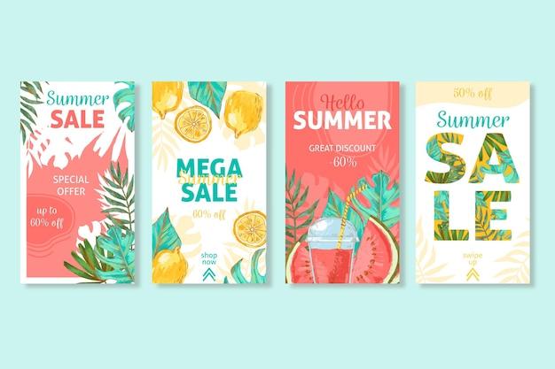 Hallo zomer verkoop instagram post collectie