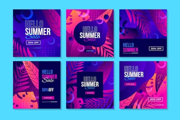 Hallo zomer verkoop instagram post