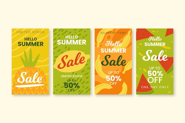 Hallo zomer verkoop instagram verhaal