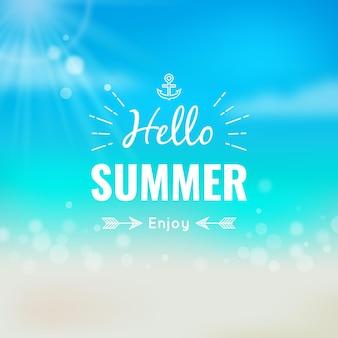 Hallo zomer wazig behang