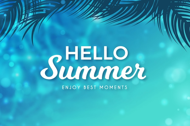 Hallo zomer wazig concept