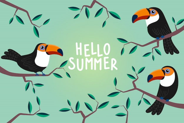 Hallo zomer wenskaart