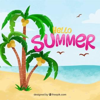 Hallo zomerachtergrond