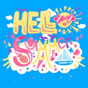 Hallo zomerconcept