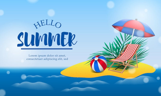 Hallo zomerdag vakantie op het eiland