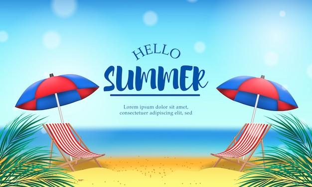 Hallo zomerdag vakantie op het strand