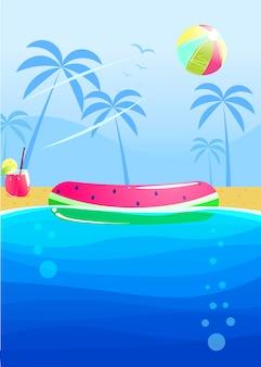 Hallo zomerfeest banner ontwerp