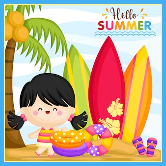 Hallo zomermeisje