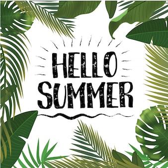 Hallo zomertijd behang, plezier, feest, achtergrond, foto, kunst, reizen, poster, evenement. illustratie