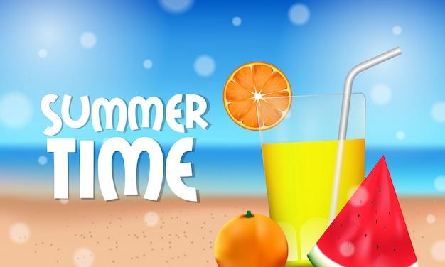 Hallo zomertijd tropisch fruit