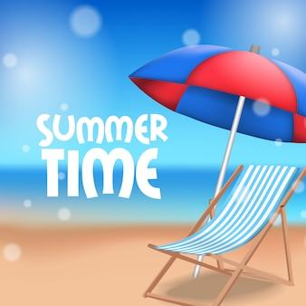 Hallo zomertijd tropisch strand