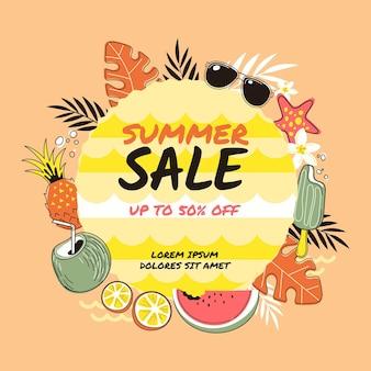 Hallo zomertijd verkoop hand getrokken