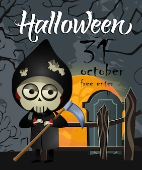 Halloween, 30 oktober eerste letters met grim reaper