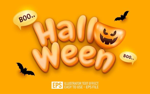 Halloween 3d-tekst bewerkbare stijleffectsjabloon
