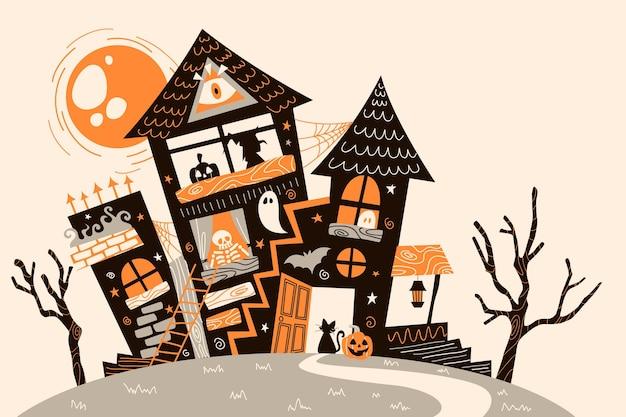 Halloween achtergrond grunge ontwerp