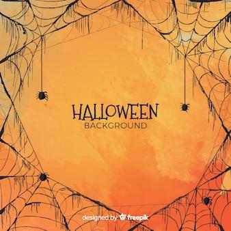 Halloween-achtergrond in waterverfstijl