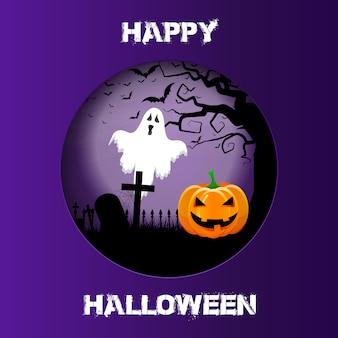 Halloween-achtergrond met knipselontwerp