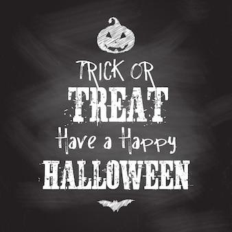 Halloween achtergrond met krijt board design