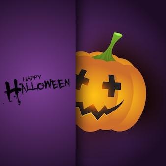 Halloween-achtergrond met leuke pompoen