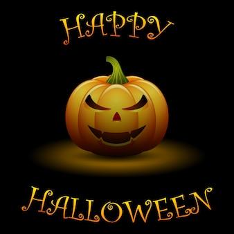 Halloween-achtergrond met pompoenen
